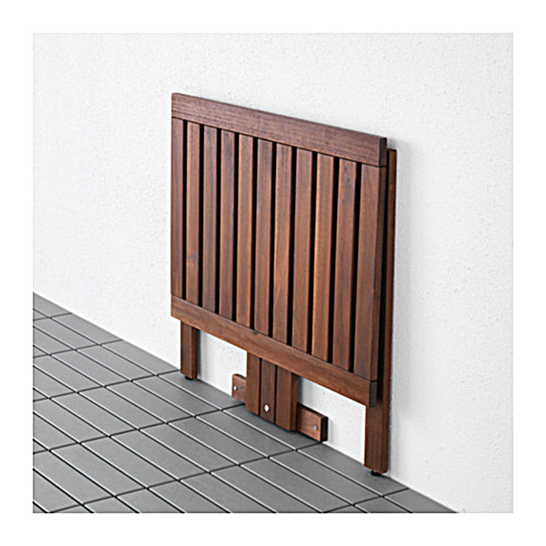 """""""PPLAR– Gateleg table for wall outdoor brown stained Red"""