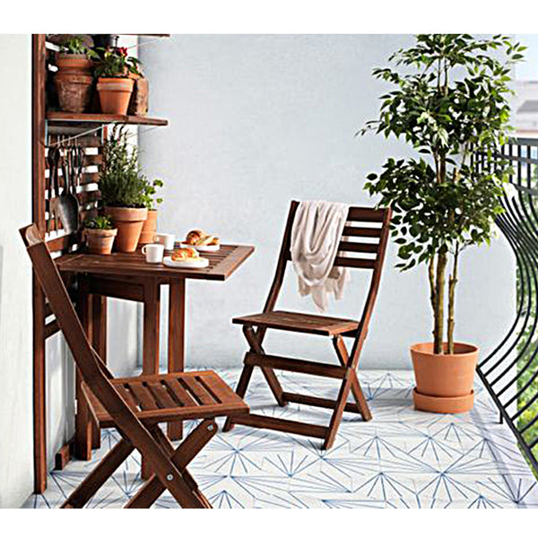 Awesome ... ÄPPLARÖ Gateleg Table For Wall, Outdoor, Brown Stained