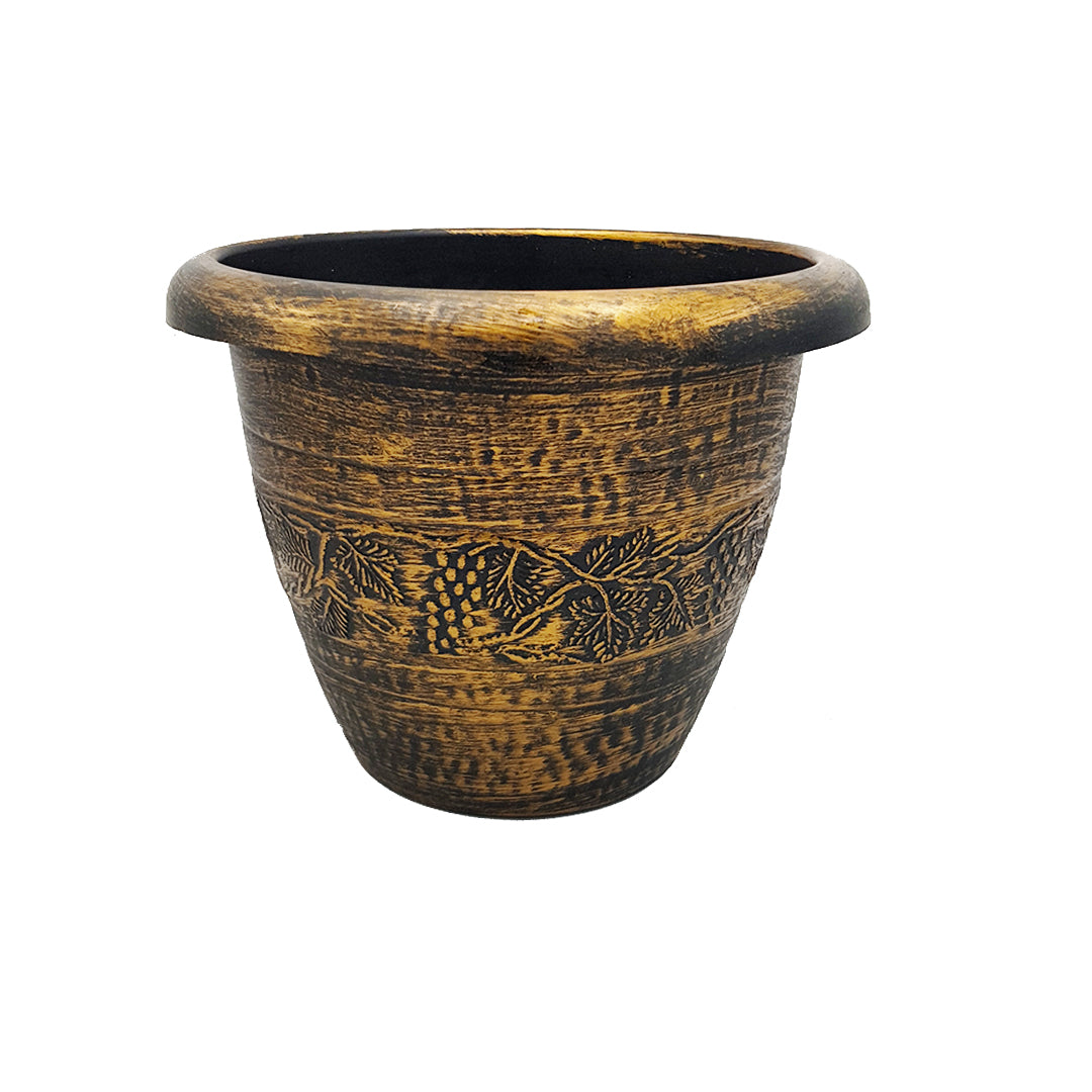 Bronze-Colored Floor Planter/Vase - 19.5cm Height (Medium)