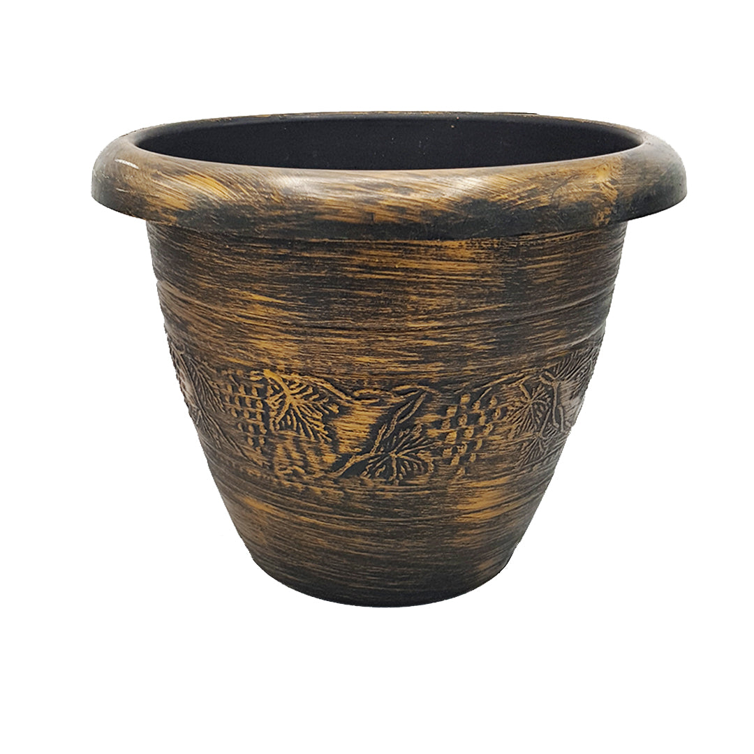 Bronze-Colored Floor Planter/Vase - 24cm Height (Big)