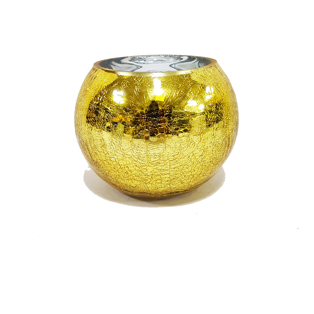 Textured Gold Vase - 14cm height