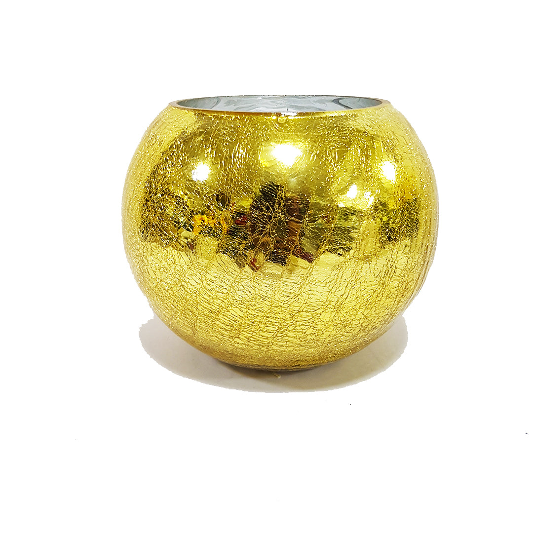 Textured Gold Vase - 16.5cm height