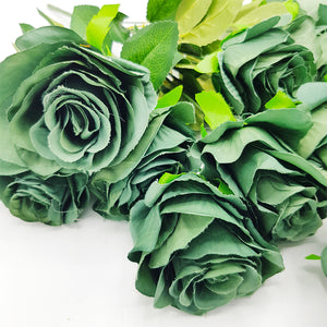 Bunch of Green Roses