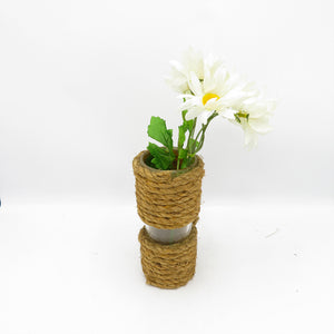 Half Rope Slim Vase with flowers - PreLoved -  Home Declutter