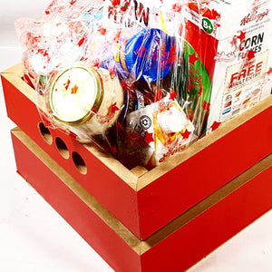 Red Wooden Hamper Crate/Box (ON ORDER)