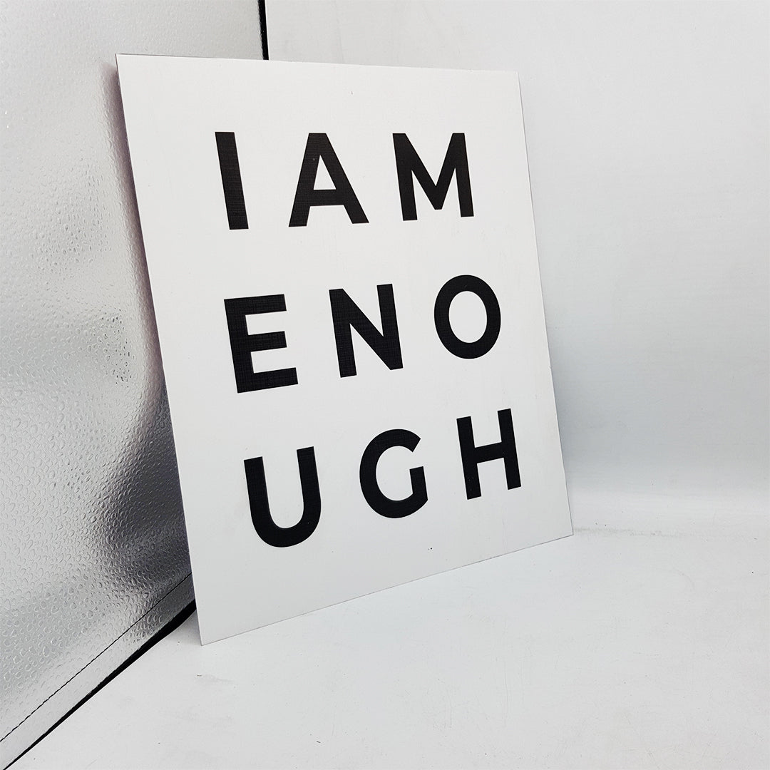 I AM ENOUGH Wall Art