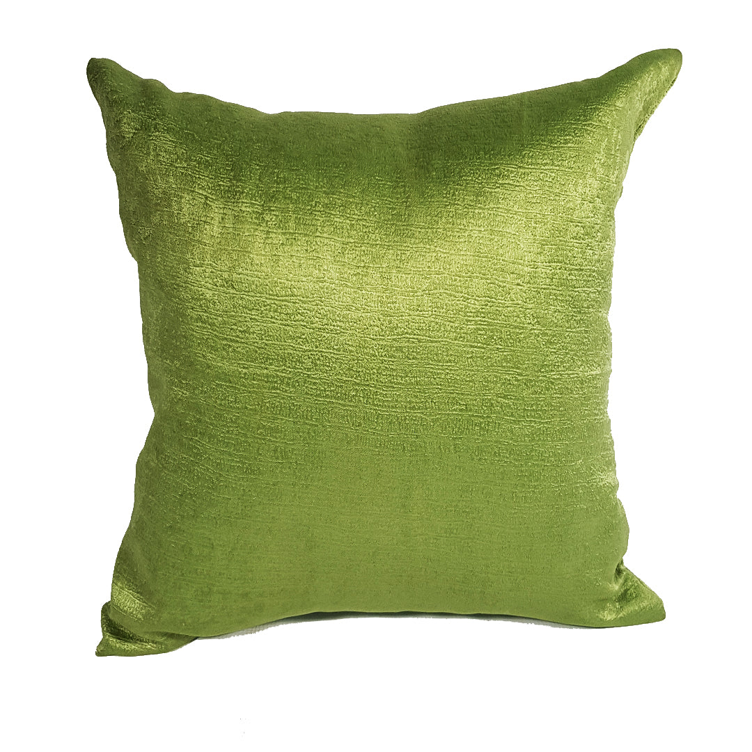 Textured Green Throw Pillow