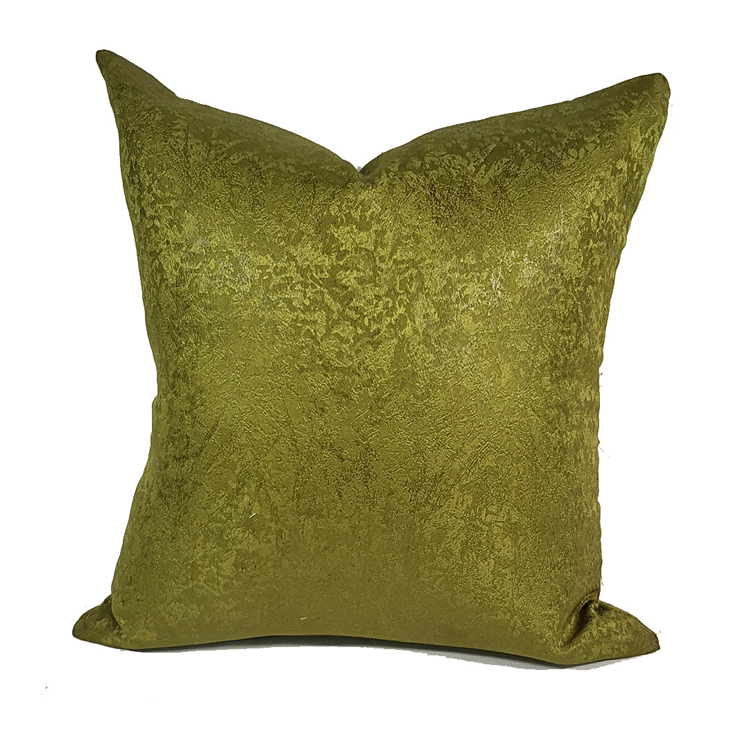 Pair of Olive Green Throw Pillows