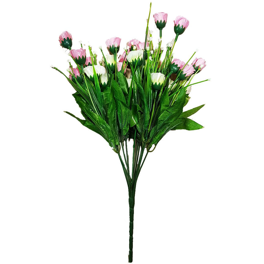 Small Tulips Baby Pink And White Flower Bunch Red Acacias Again