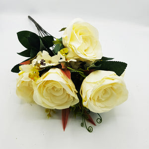 Bunch of  Cream Roses -Sup