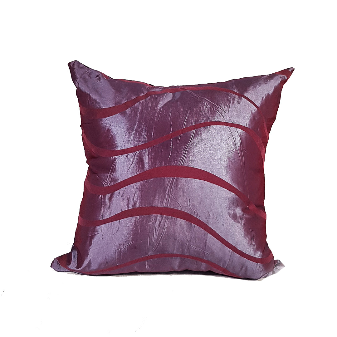 Throw Pillow with Broad Wavy Lines