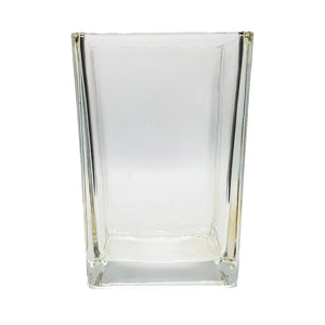 Clear Rectangular Glass Table Vase