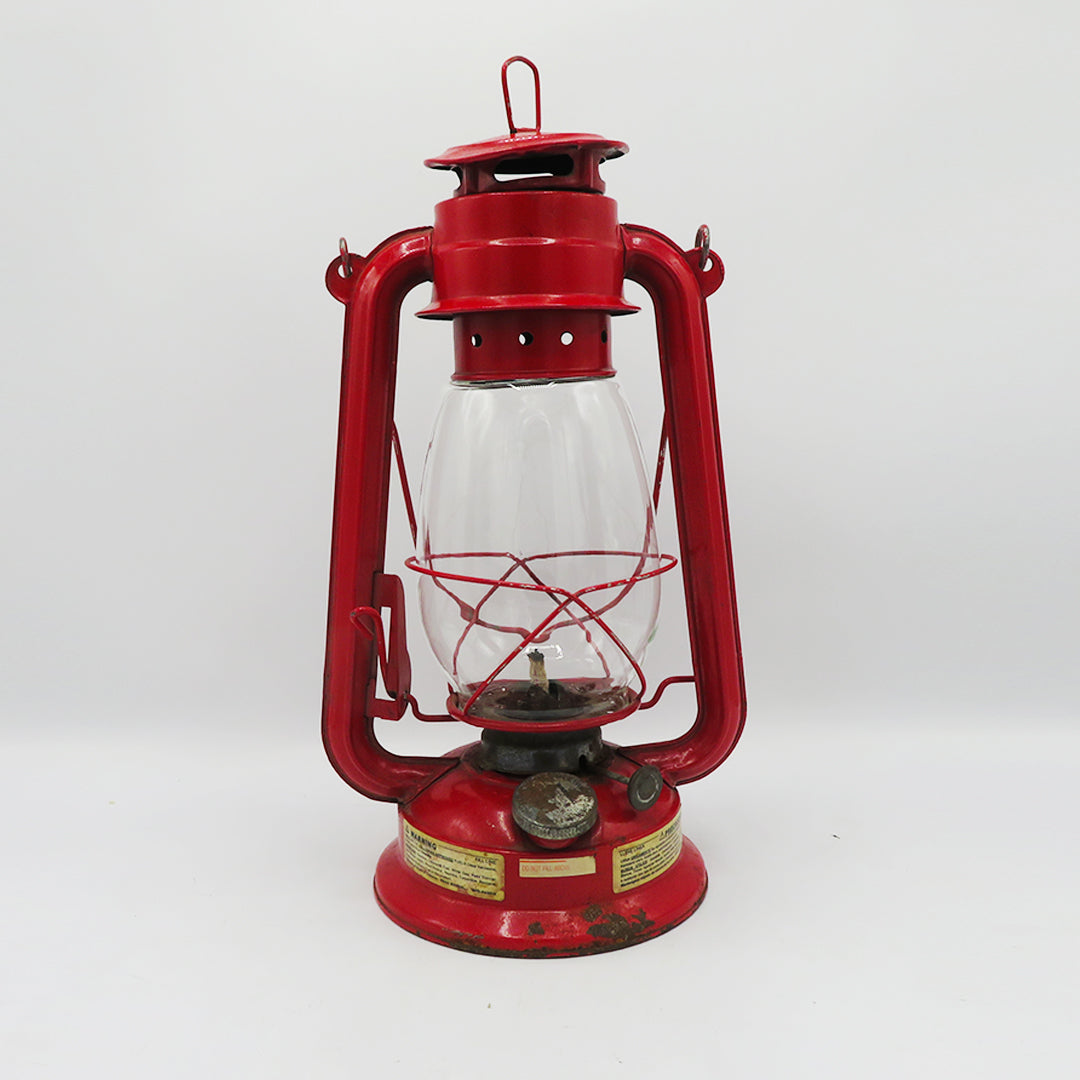 Vintage Red Metal Lantern - For Décor - PreLoved -Home Declutter