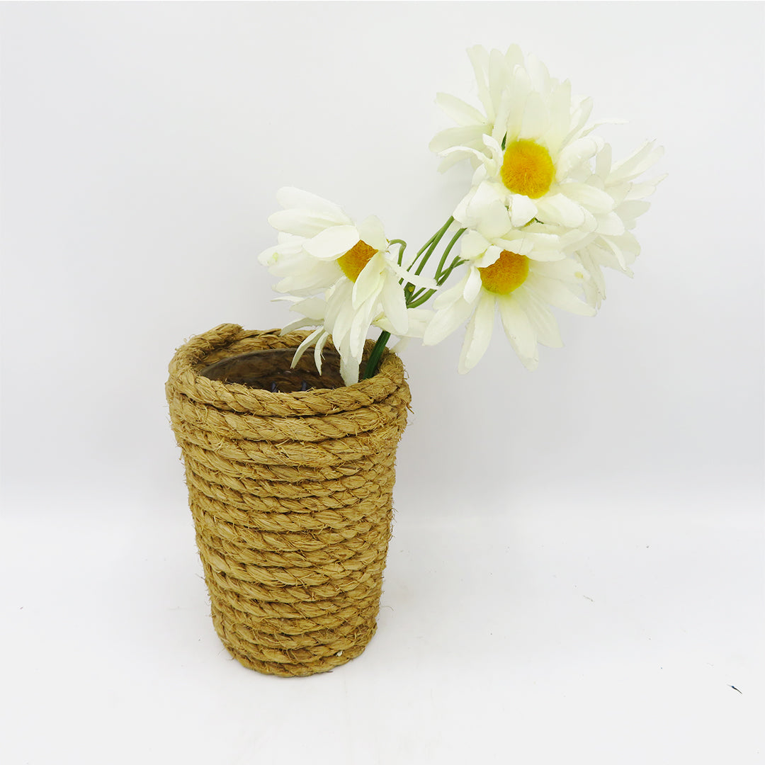DIY Rope Vase with Flowers - PreLoved -Home Declutter