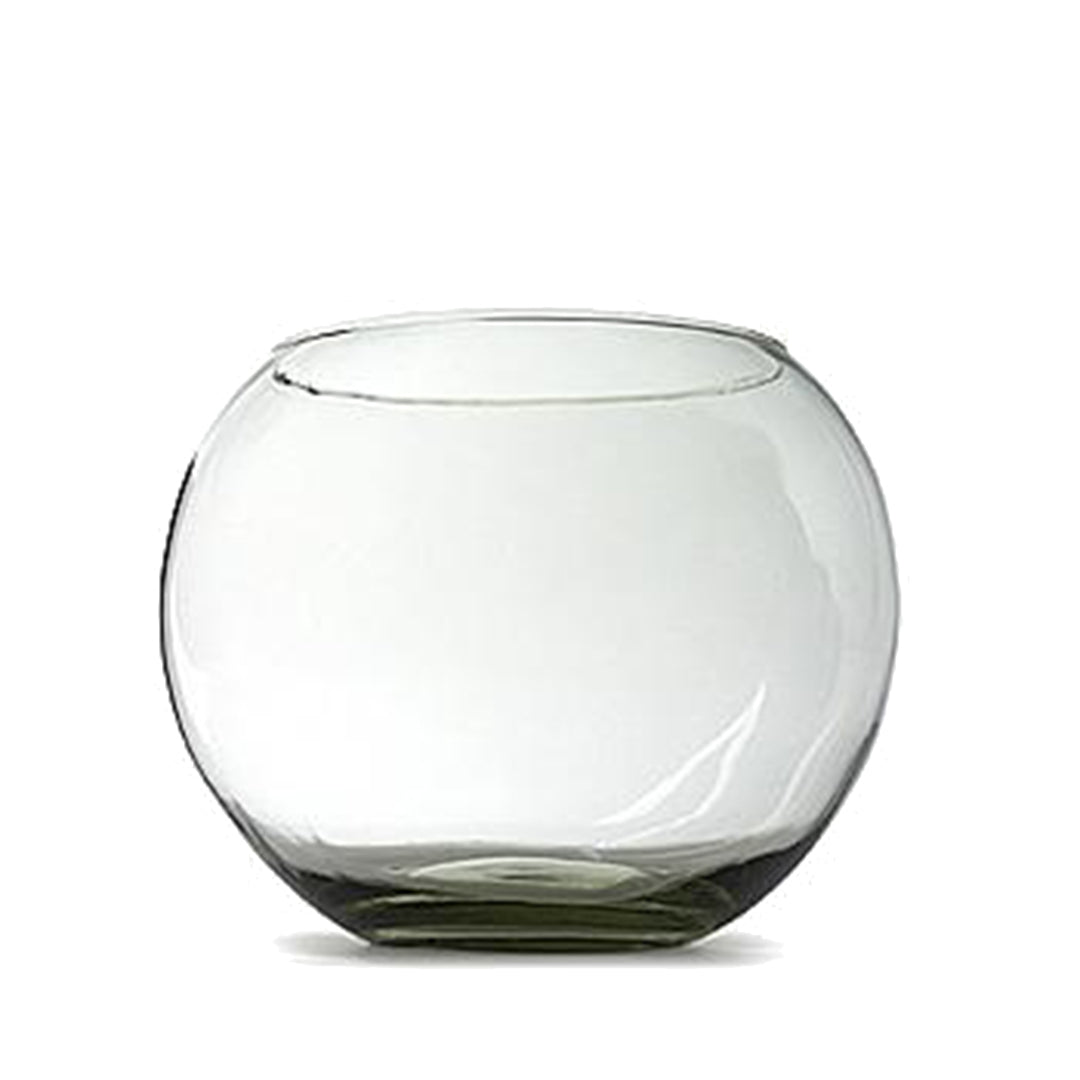 Round Glass Vase - 15cm Height