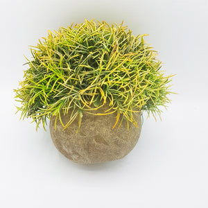 Faux Greenery in Small Cement Pot