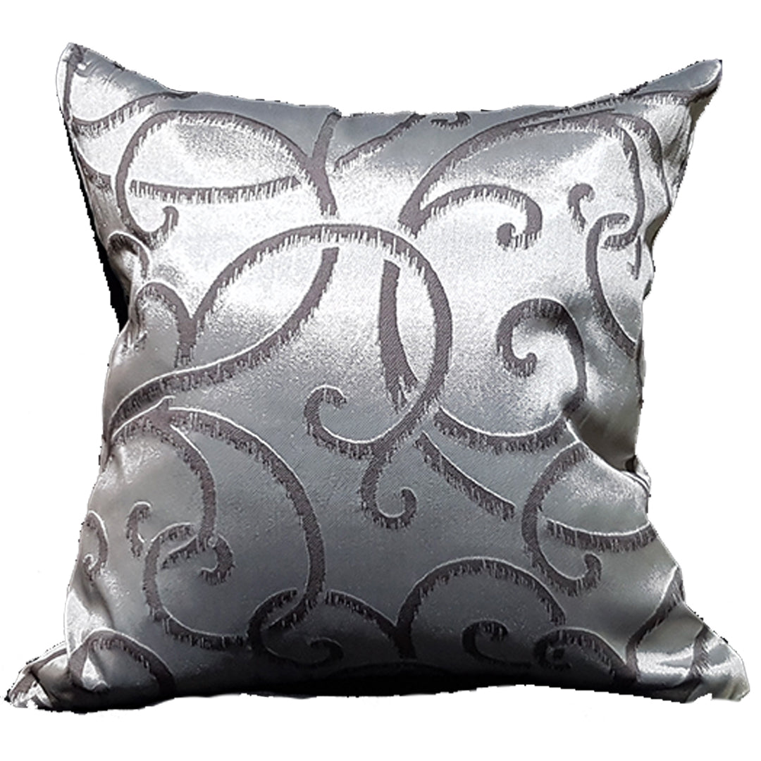 Silver Curves Throw Pillow Cover