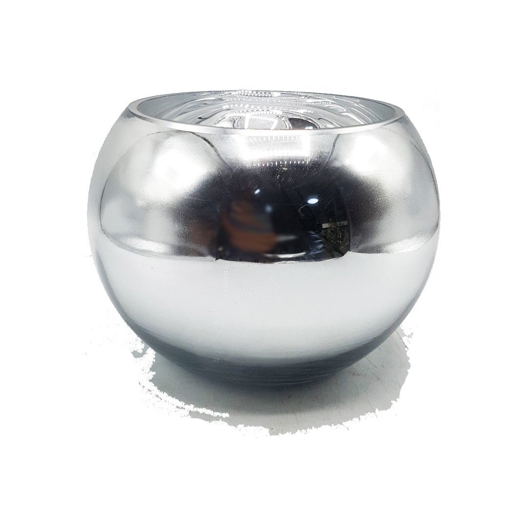 Silver Mirror Fishbowl  Vase