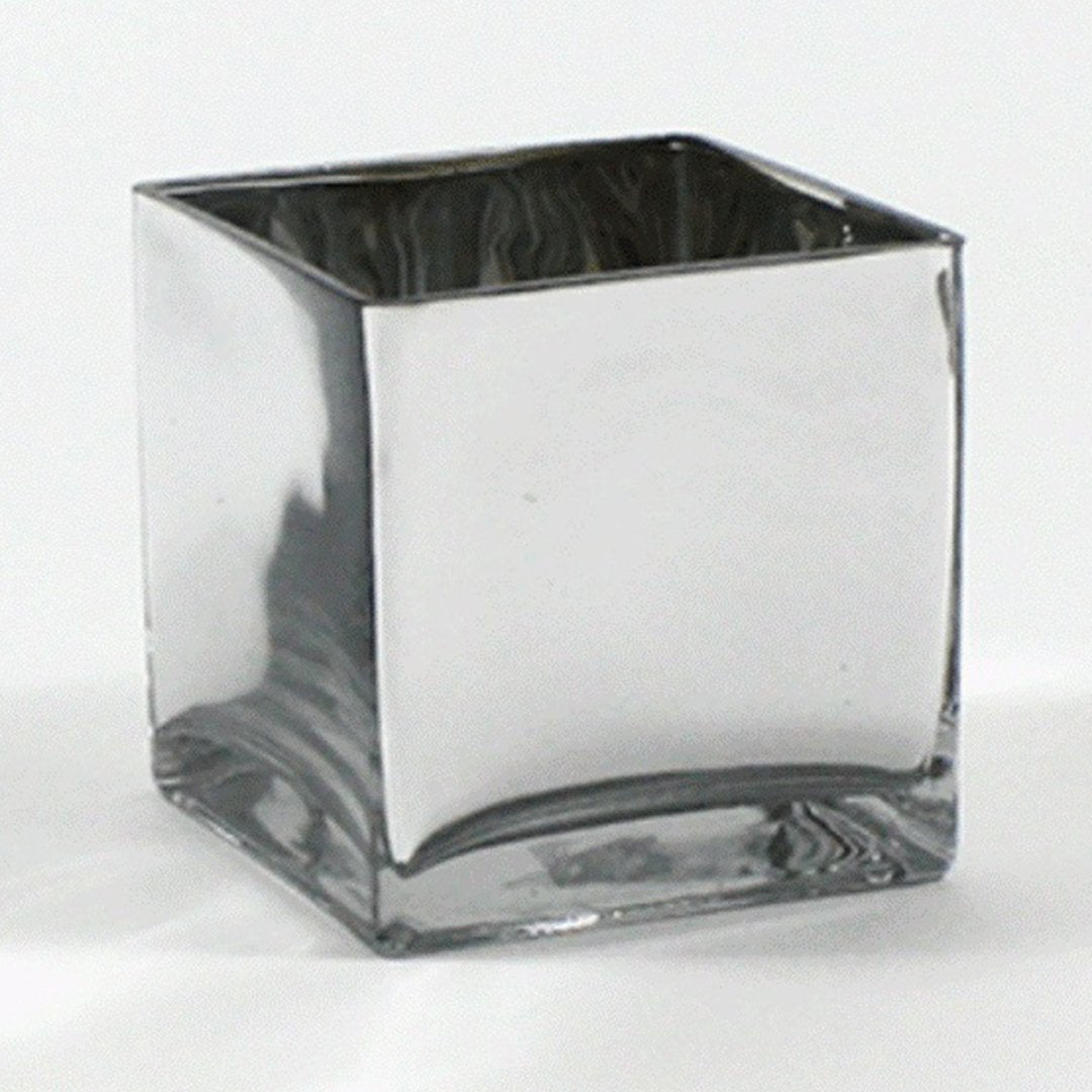 Silver Glass Table Vase