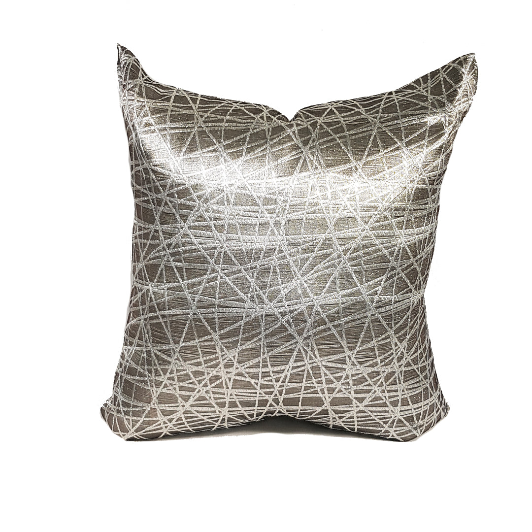 Grey Criss-Crossy Throw Pillow