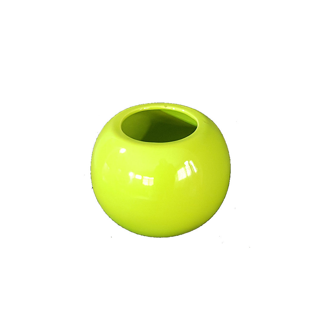Round Ceramic Vase - Lemon Green
