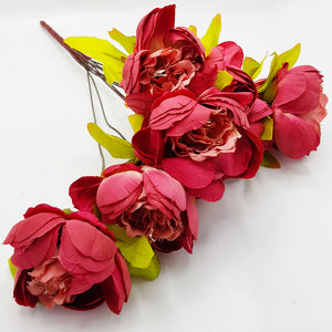 Bunch of Soft Texture Peonies - Terracotta