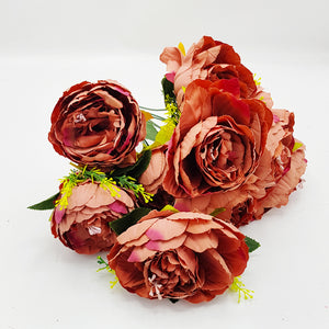 Bunch of Soft Texture Peonies Style 2 - Terracotta