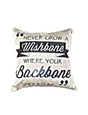 Lettered Throw Pillow - Wishbone Backbone