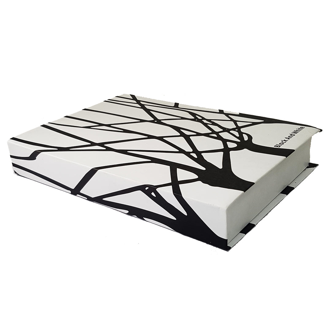 White-Black-White Coffee Table Book (Faux)