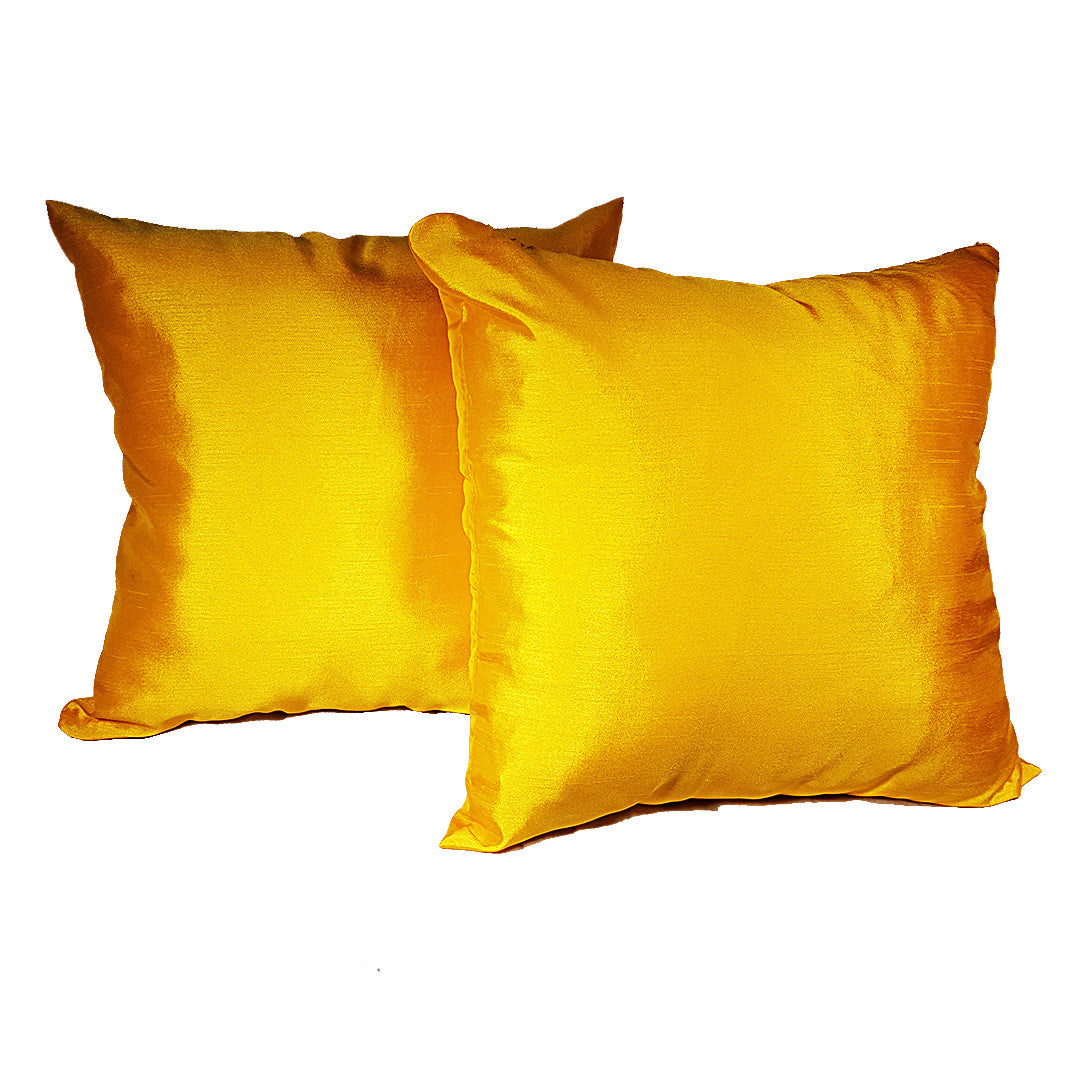 Pair of Mustard Yellow Throw Pillows