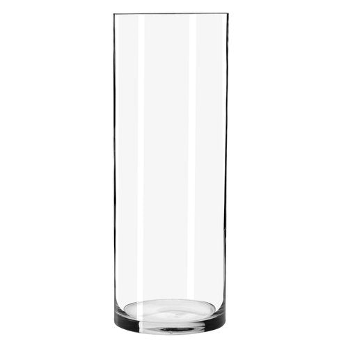 Clear Cylindrical Glass Vase - 25cm