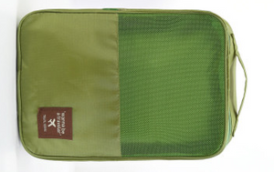 Travel Shoe Pouch Green