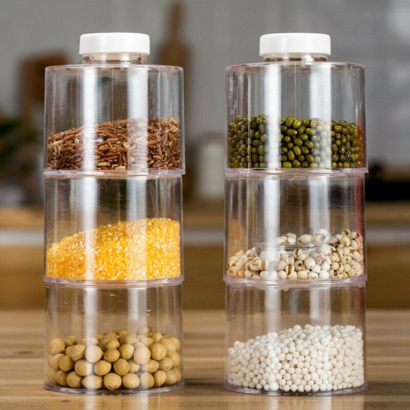 Self Stacking Spice-Bottles - Set of 6 jars