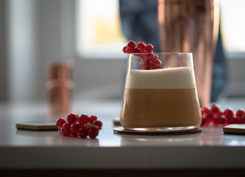 Pu-Erh Whisky Sour Cocktail
