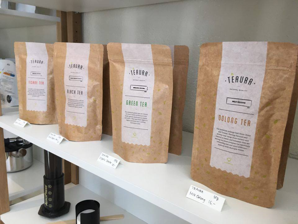 Tèaura teas at MAME coffee shop
