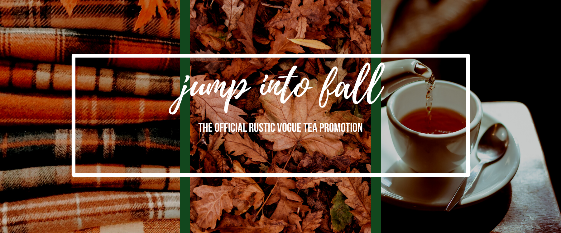 jump into fall with 30% off all teas and tea ware