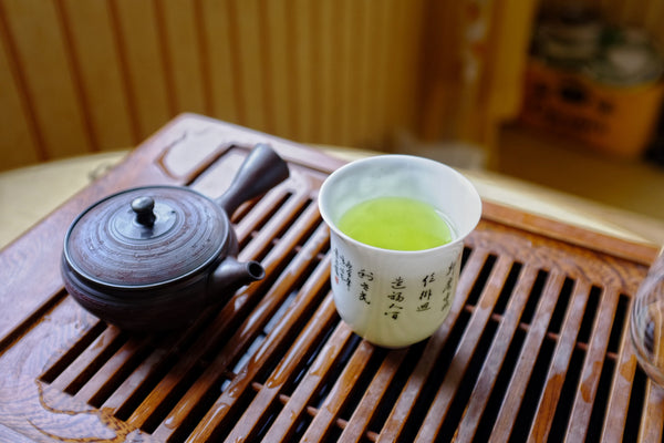 Japanese Green Tea in a white cup
