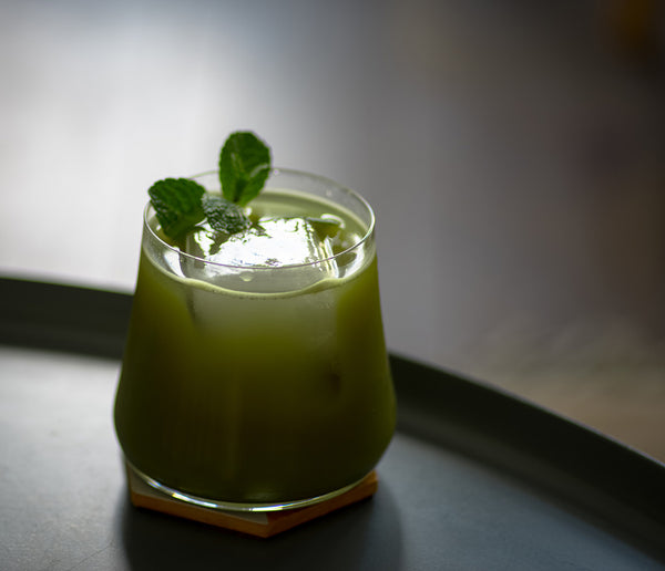 Matcha Zinger tea cocktail