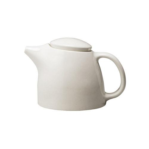 TOPO Weissen Porzellan Teekane Teegeschirr auf weissem Hintergrun - TOPO white porcelain teapot Teaware Kinto on white background