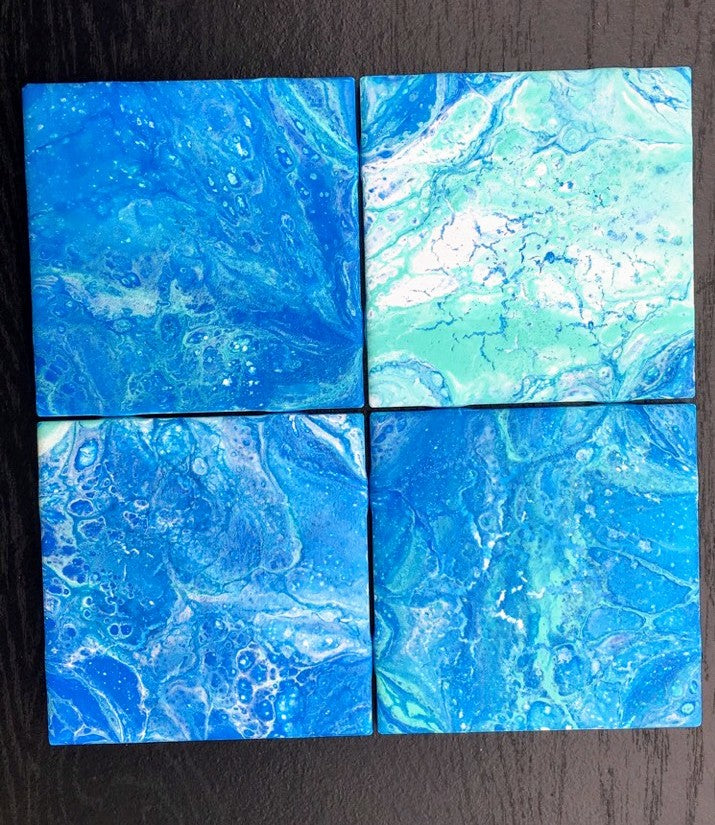 Nov 27th Acrylic Pour Coaster set!
