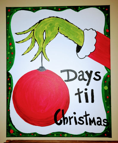 Grinch Canvas Countdown