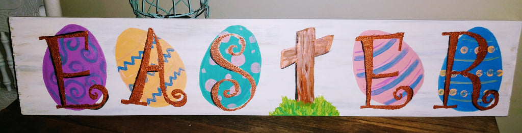 April 5th Spring/ Easter Wood Board