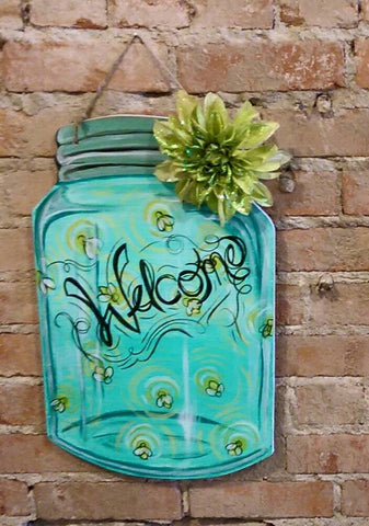 April 5th Mason Jar Door Hanger