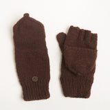 Solid Glittens/Mittens with flap