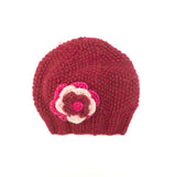 Moss-stitch Flower Beanie Kids