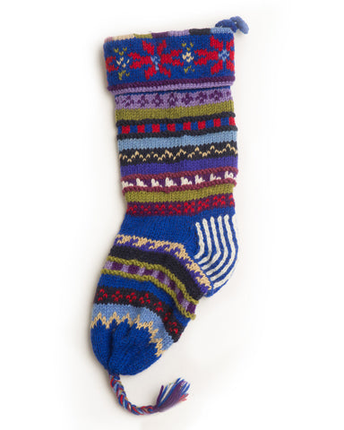 Stripped Christmas Stocking