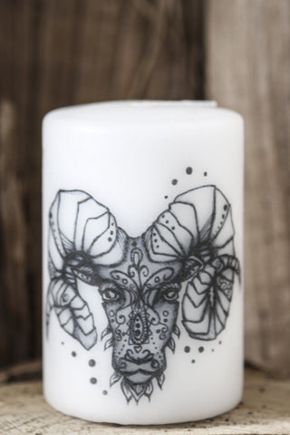 Zodiac candle: Aries