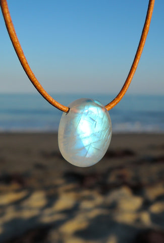 Moonstone Double wrap pendant