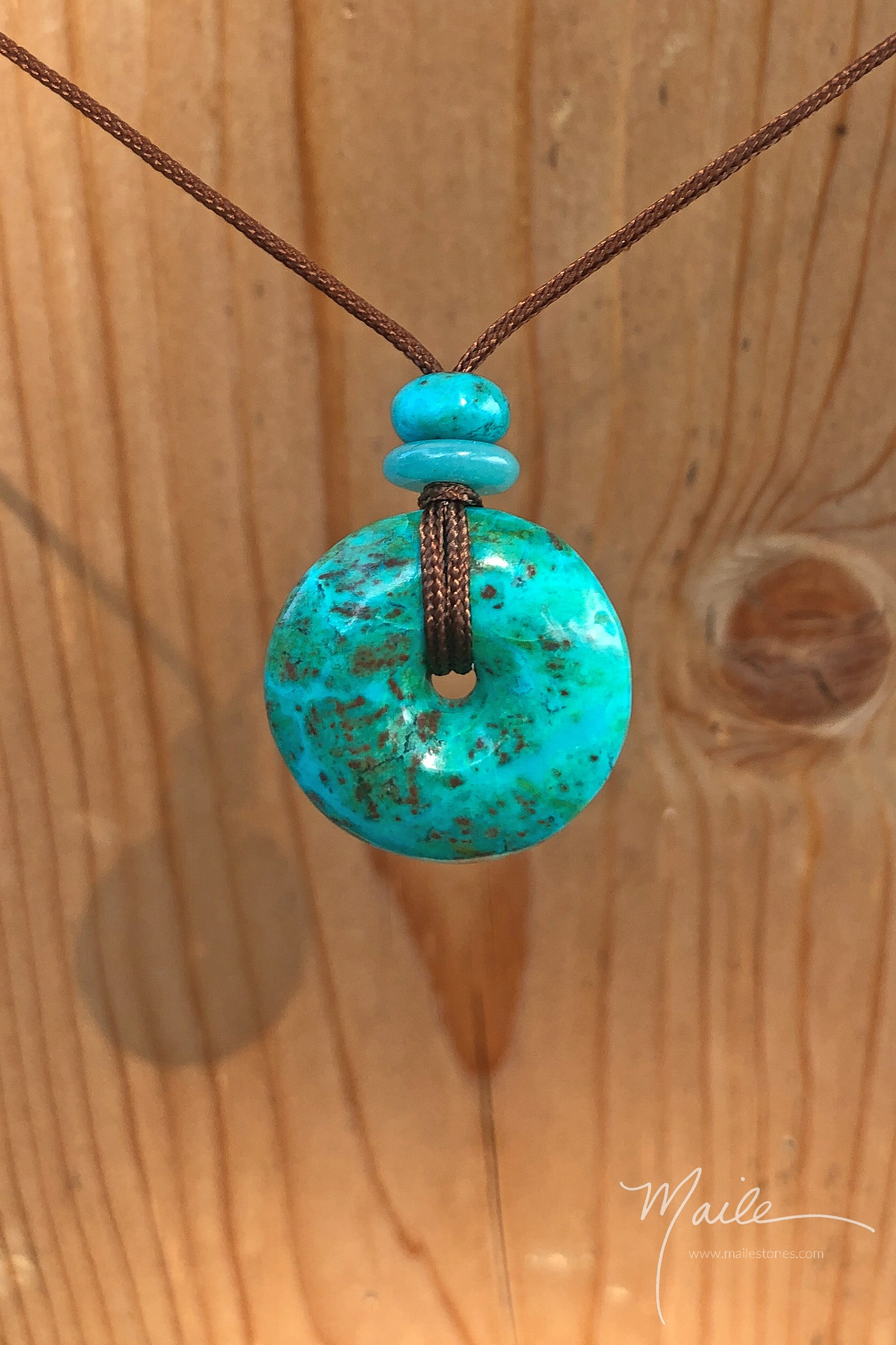 Chrysocolla Torus Love Bead