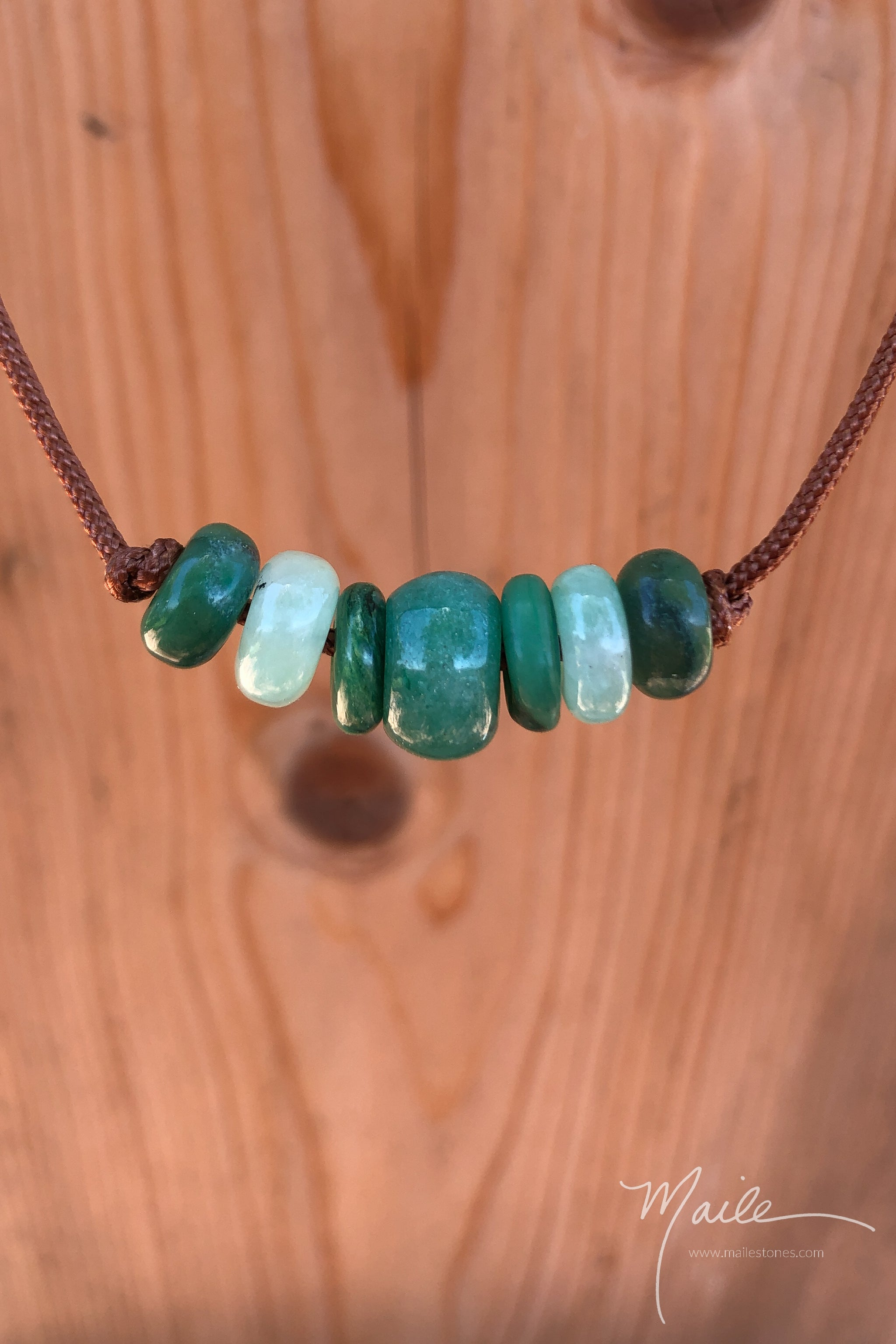 Green Aventurine Love Bead Necklace